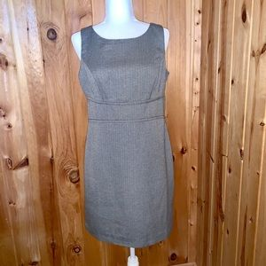Loft gray wool blend sheath dress size 10P. NWT
